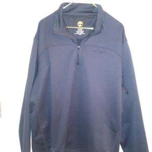 Mens Black Timberland Quarter Zip Pullover